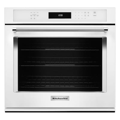 Self Cleaning Convection Single Electric Wall Oven White Common 30 Inch Actual In