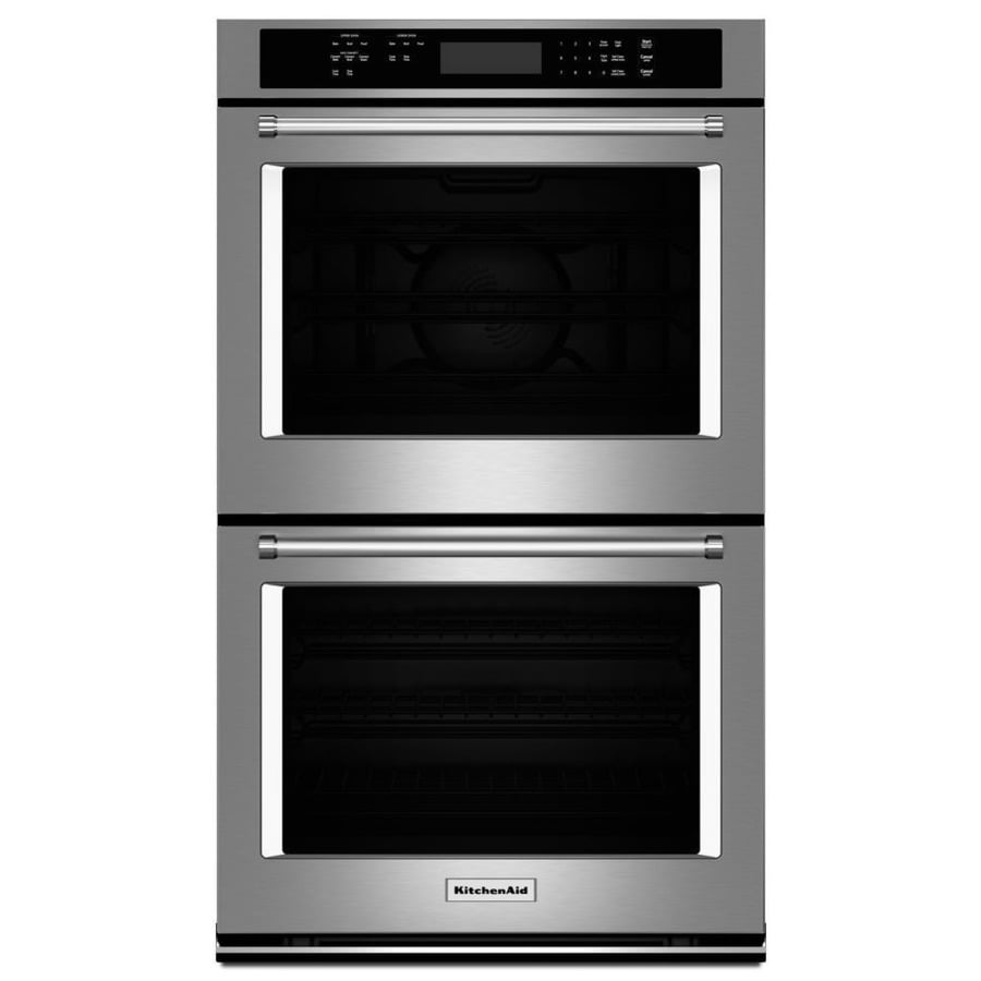 KitchenAid Self-Cleaning Convection Double Electric Wall Oven (Stainless Steel) (Common: 30-in; Actual: 30-in)