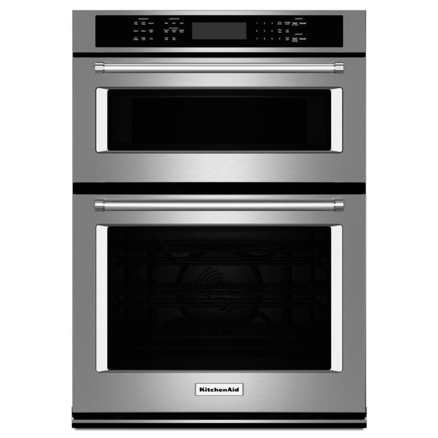 self steel oven common shop pd aid actual electric kitchenaid stainless lowes in double kitchen cleaning wall