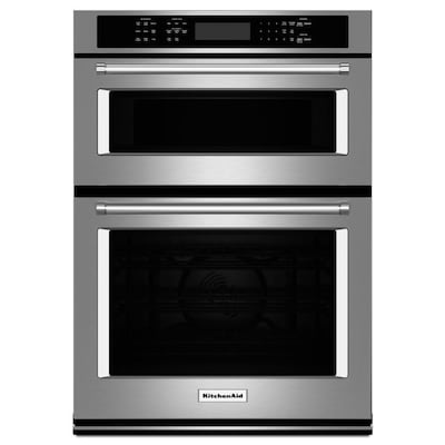 Self Cleaning Convection Microwave Wall Oven Combo Stainless Steel 30 Inch Actual In
