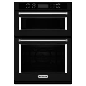 Kitchenaid Self Cleaning Convection Microwave Wall Oven Combo Black Common 27