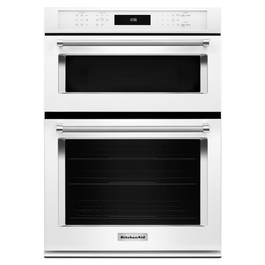 Charmant KitchenAid Self Cleaning Convection Microwave Wall Oven Combo (White)  (Common: 27