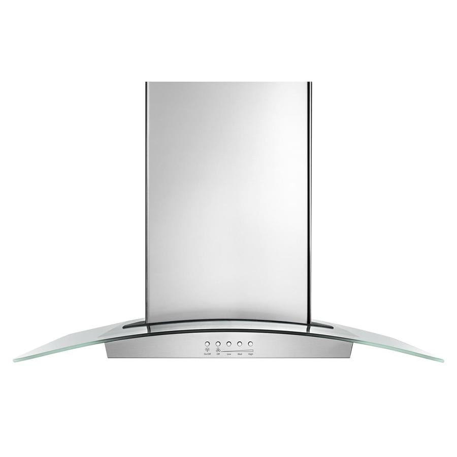 Whirlpool Convertible Island Range Hood (Stainless Steel) (Common: 36-in; Actual: 36-in)