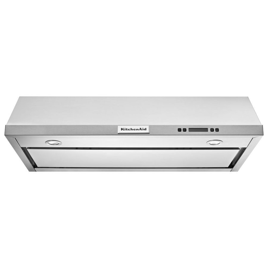 Kitchenaid 30 In Convertible Stainless Steel Undercabinet Range Hood Common Inch Actual