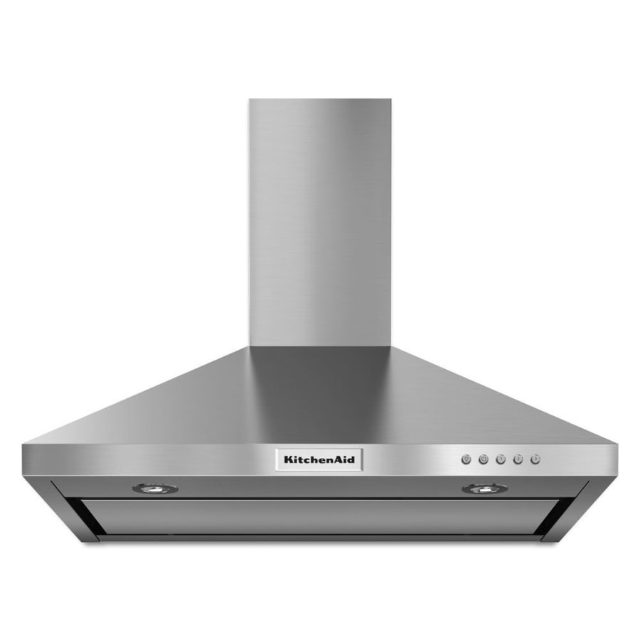 Kitchenaid 30 In Convertible Stainless Steel Wall Mounted Range Hood Common Inch Actual