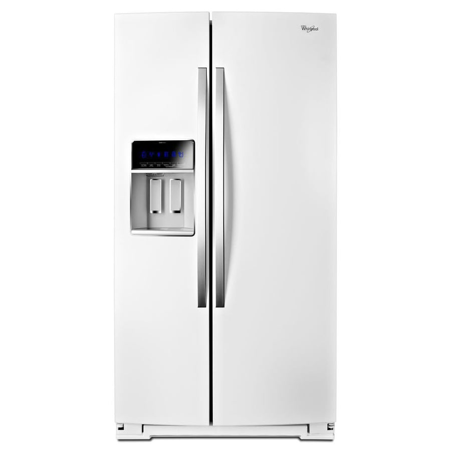 Lowes whirlpool white ice collection - Whirlpool 19 9 Cu Ft Counter Depth Side By Side Refrigerator With Ice
