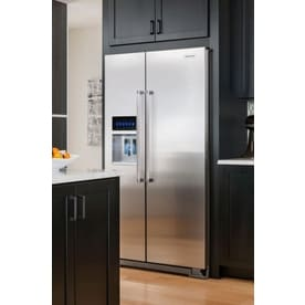 shop kitchenaid 22 6 cu ft counter depth side by side refrigerator