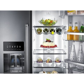 kitchenaid 22 6 cu ft counter depth side by side refrigerator with ice