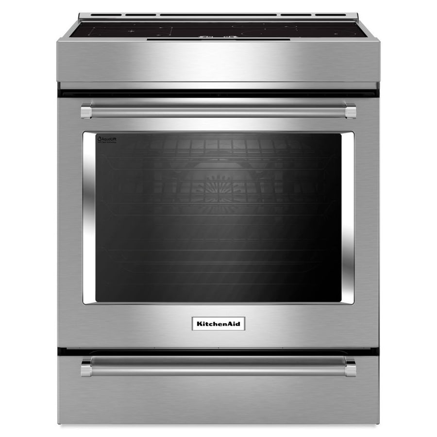 Shop KitchenAid 7.1-cu ft Slide-in Induction Range (Stainless ...