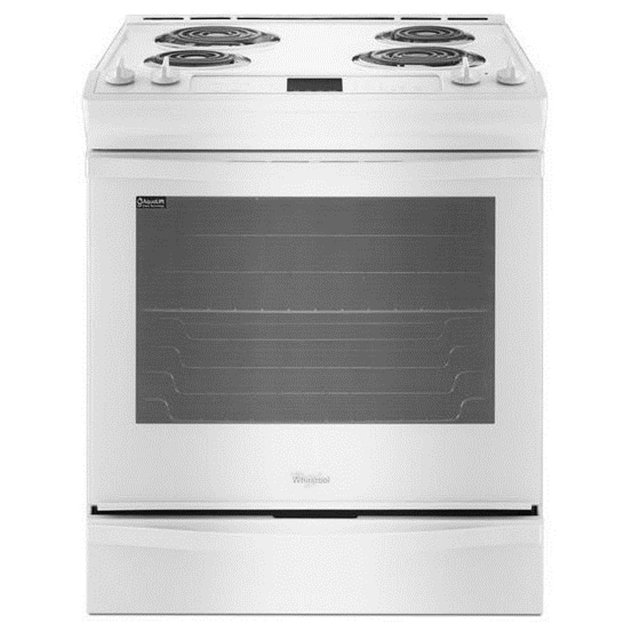 Shop Whirlpool Slide-In Electric Range (White) (Common: 30 ...