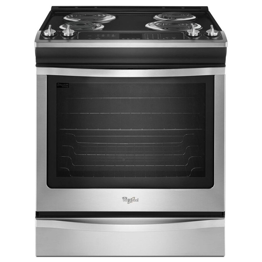 Electric Kitchen Stoves Lowes ~ Shop whirlpool slide in electric range stainless steel
