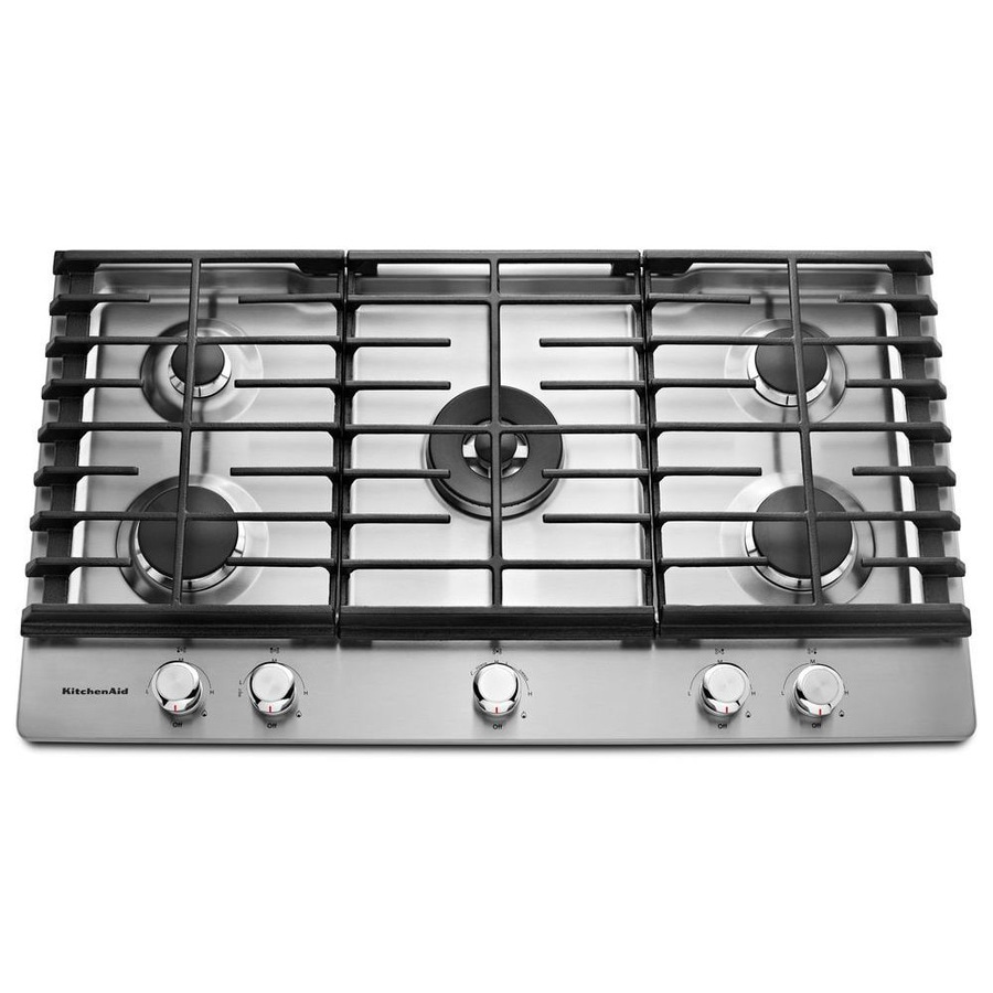 5 Burner Gas Cooktops: Shop KitchenAid 5-Burner Gas Cooktop (Stainless Steel