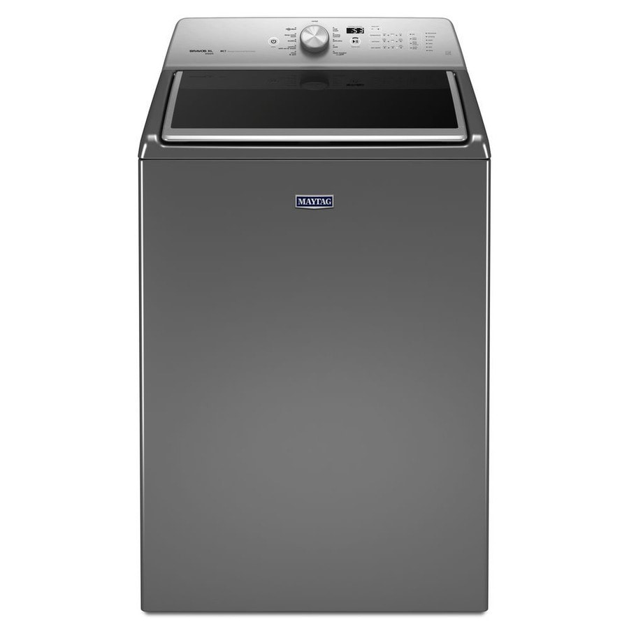 Maytag 5.3-cu ft High-Efficiency Top-Load Washer (Chrome Shadow) ENERGY STAR