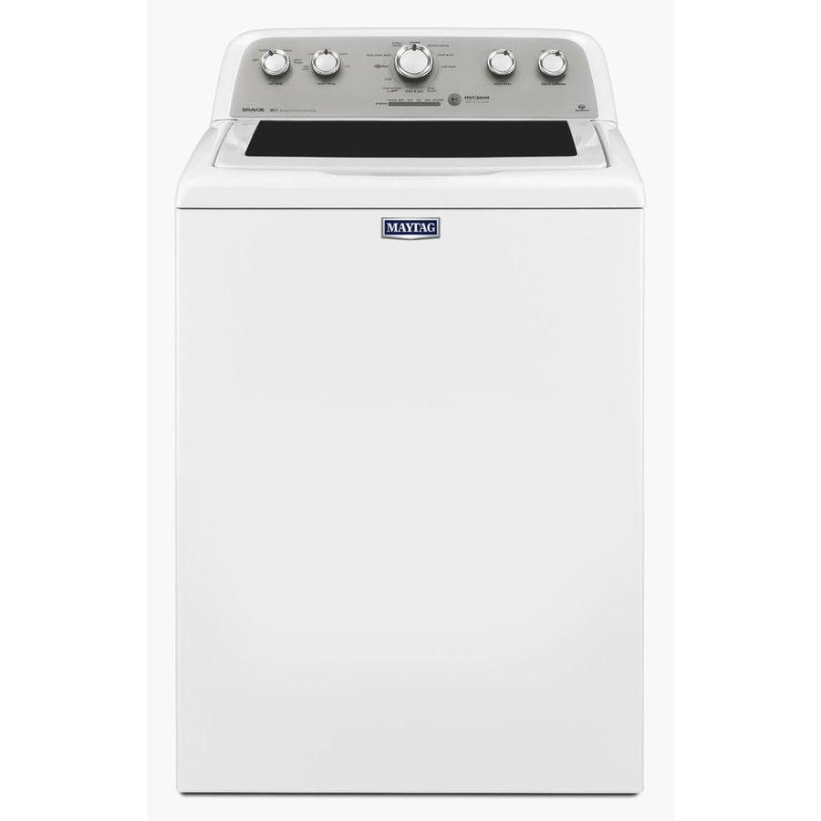 Maytag Bravos 4.3-cu ft High-Efficiency Top-Load Washer (White)
