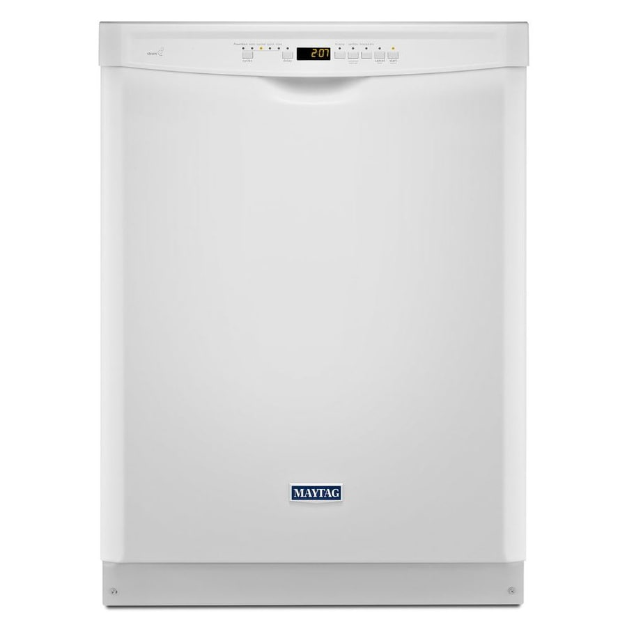 Maytag 50-Decibel Built-In Dishwasher and Hard Food Disposer (White) (Common: 24-in; Actual: 23.875-in) ENERGY STAR