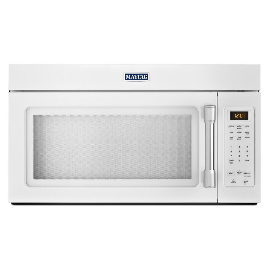 Lowes microwaves over the range white - Maytag 1 7 Cu Ft Over The Range Microwave White Common