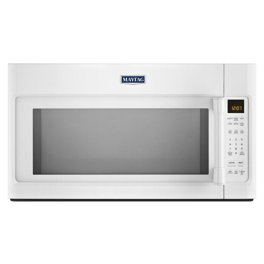 Maytag 2-cu ft Over-the-Range Microwave with Sensor Cooking Controls (White) (Common: 30-in; Actual: 29.9-in)
