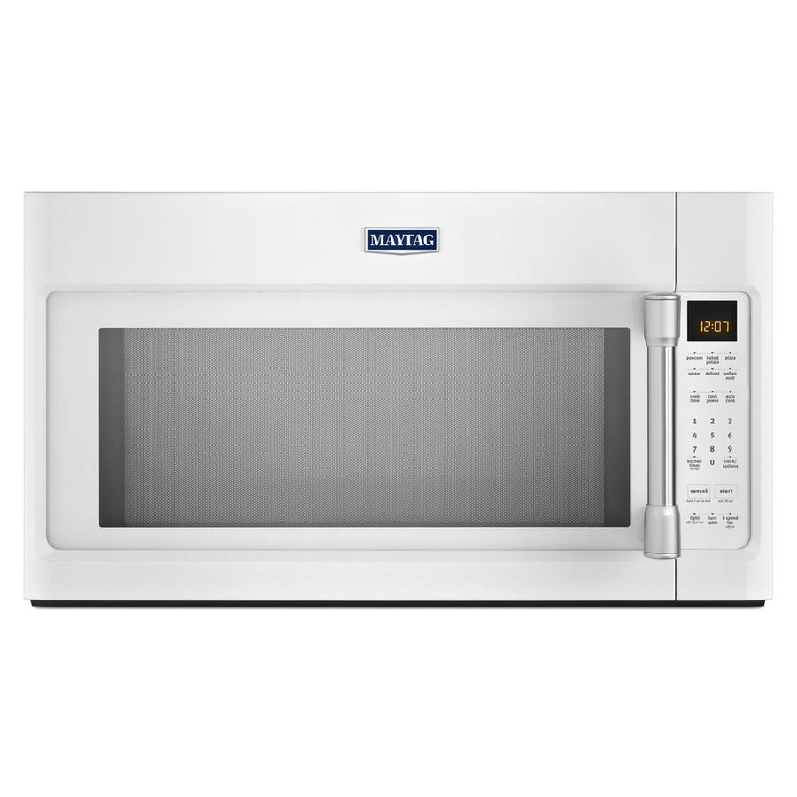 Maytag 2-cu ft Over-the-Range Microwave with Sensor Cooking Controls (Heritage White) (Common: 30-in; Actual: 29.9-in)