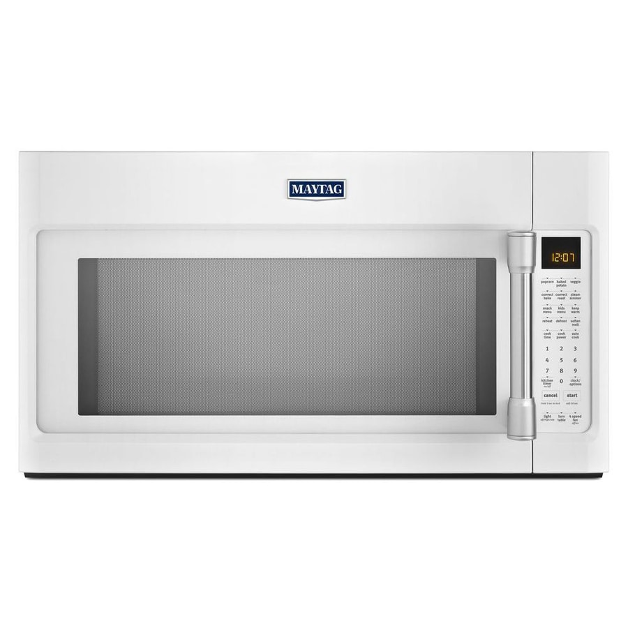 Maytag 1.9-cu ft Over-The-Range Convection Oven Microwave with Sensor Cooking Controls (White) (Common: 30-in; Actual: 29.9-in)