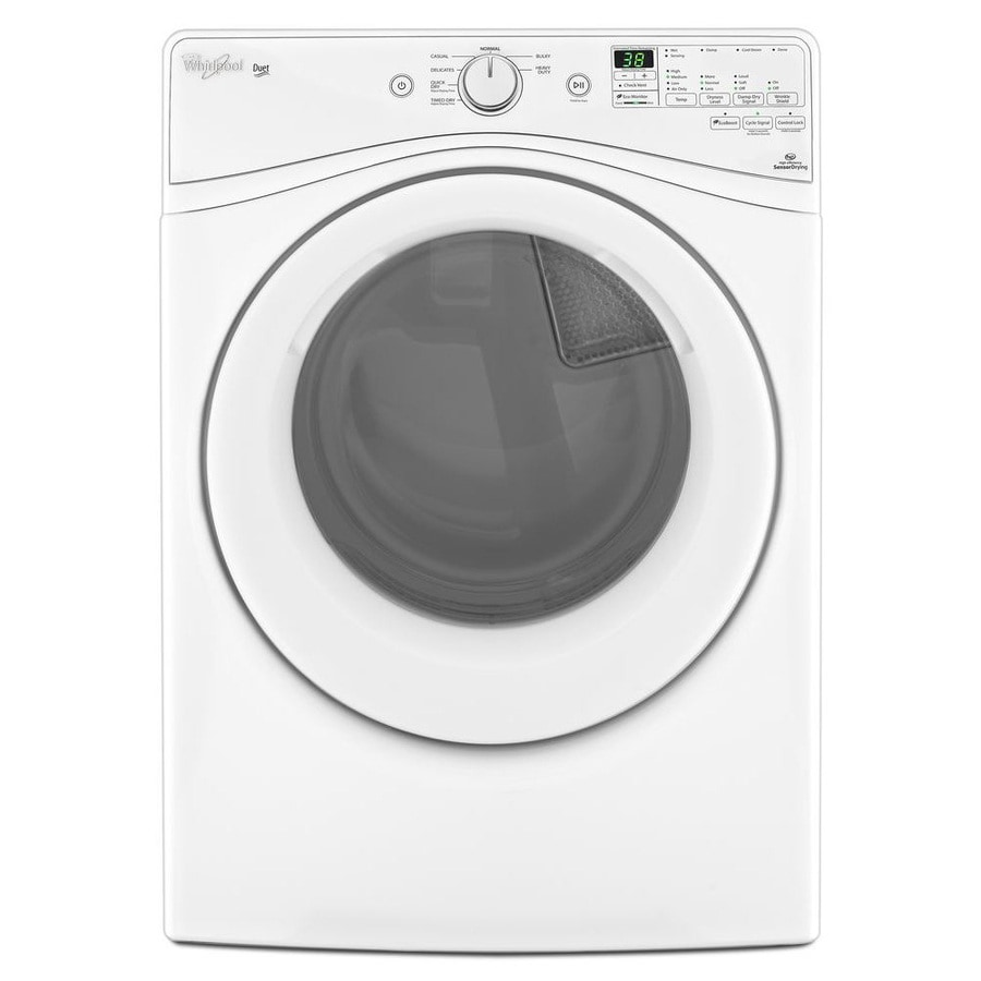 Whirlpool Duet 7.3-cu Ft Stackable Electric Dryer (White