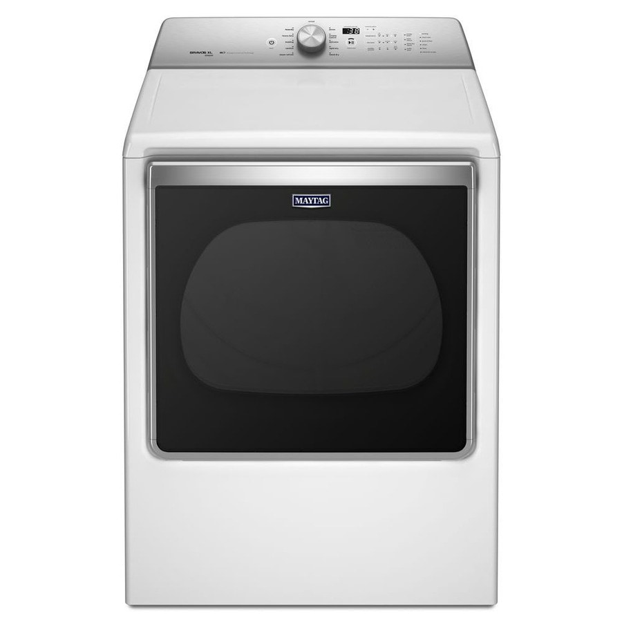 Maytag 8.8-cu ft Electric Dryer with Steam Cycle (White) ENERGY STAR