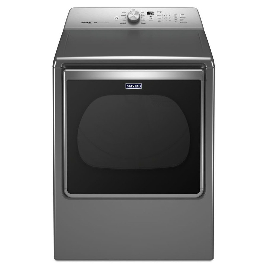Maytag 8.8-cu ft Electric Dryer with Steam Cycle (Chrome Shadow) ENERGY STAR