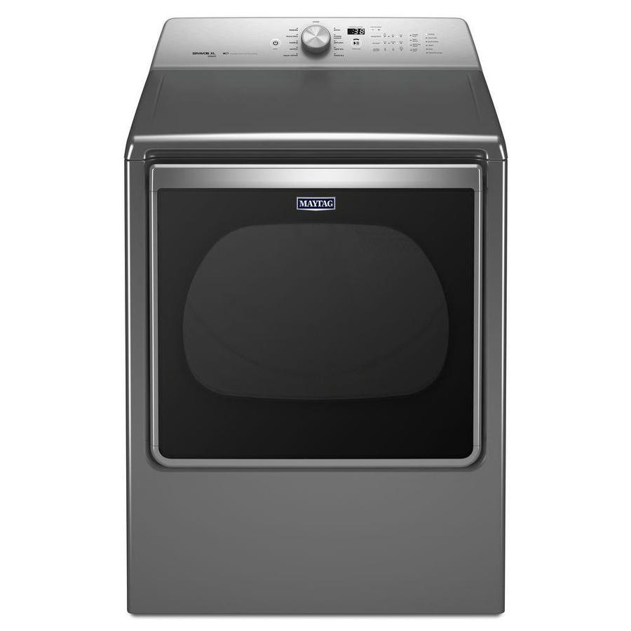 Maytag 8.8-cu ft Gas Dryer with Steam Cycle (Chrome Shadow)