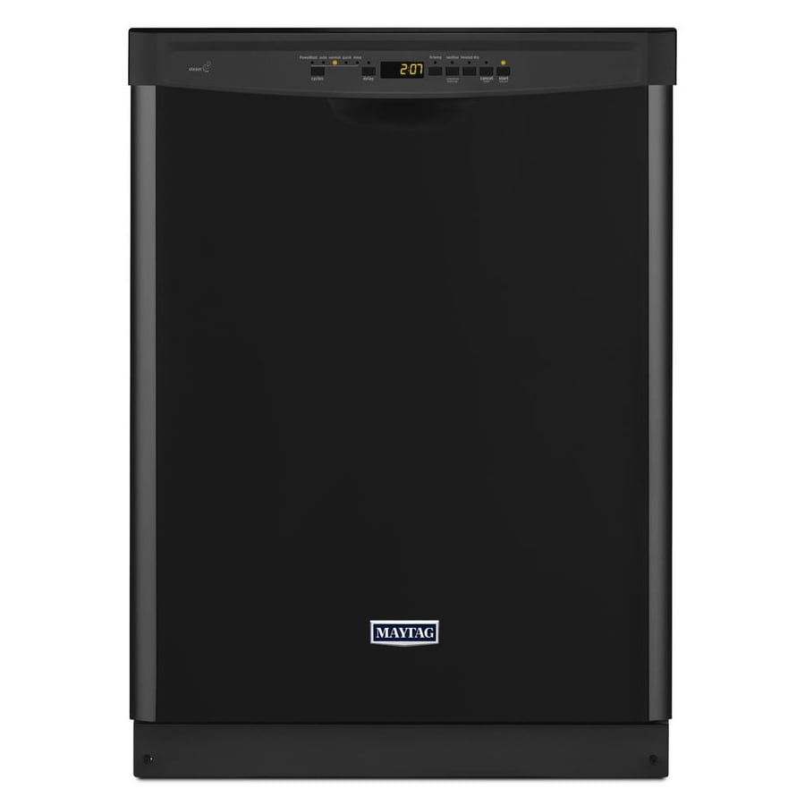 Maytag 50-Decibel Built-In Dishwasher and Hard Food Disposer (Black) (Common: 24-in; Actual: 23.875-in) ENERGY STAR
