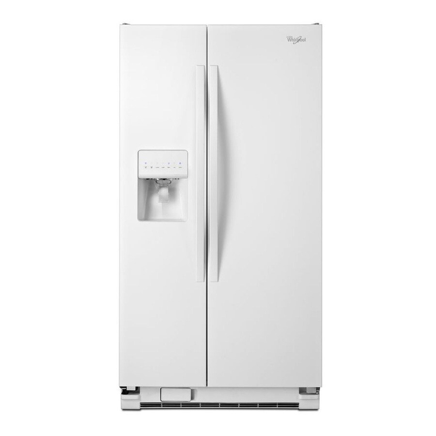 Whirlpool 24.5-cu ft Side-by-Side Refrigerator with Single Ice Maker (White) ENERGY STAR