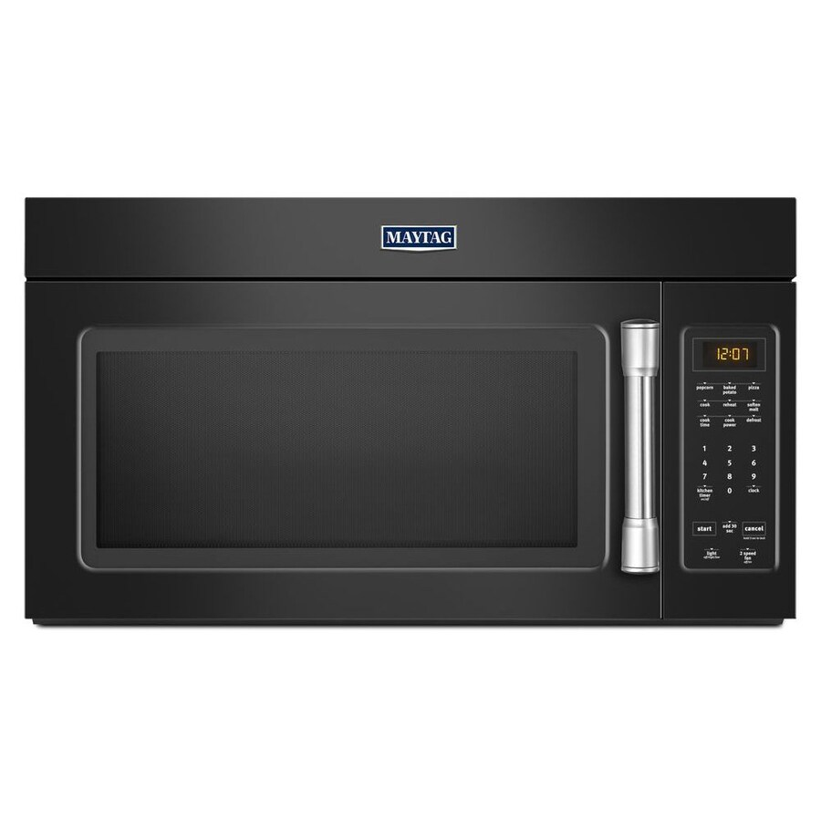 Maytag 1.7-cu ft Over-the-Range Microwave (Black) (Common: 30-in; Actual: 29.875-in)