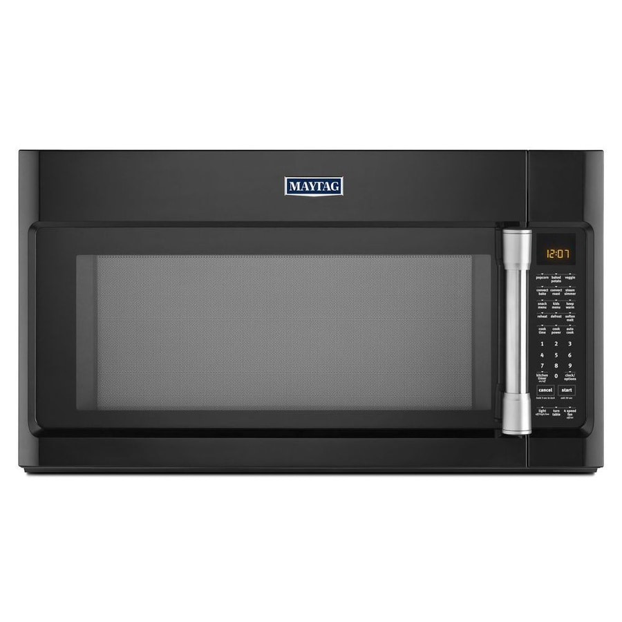 Maytag 1.9-cu ft Over-the-Range Convection Microwave with Sensor Cooking Controls (Black) (Common: 30-in; Actual: 29.9-in)