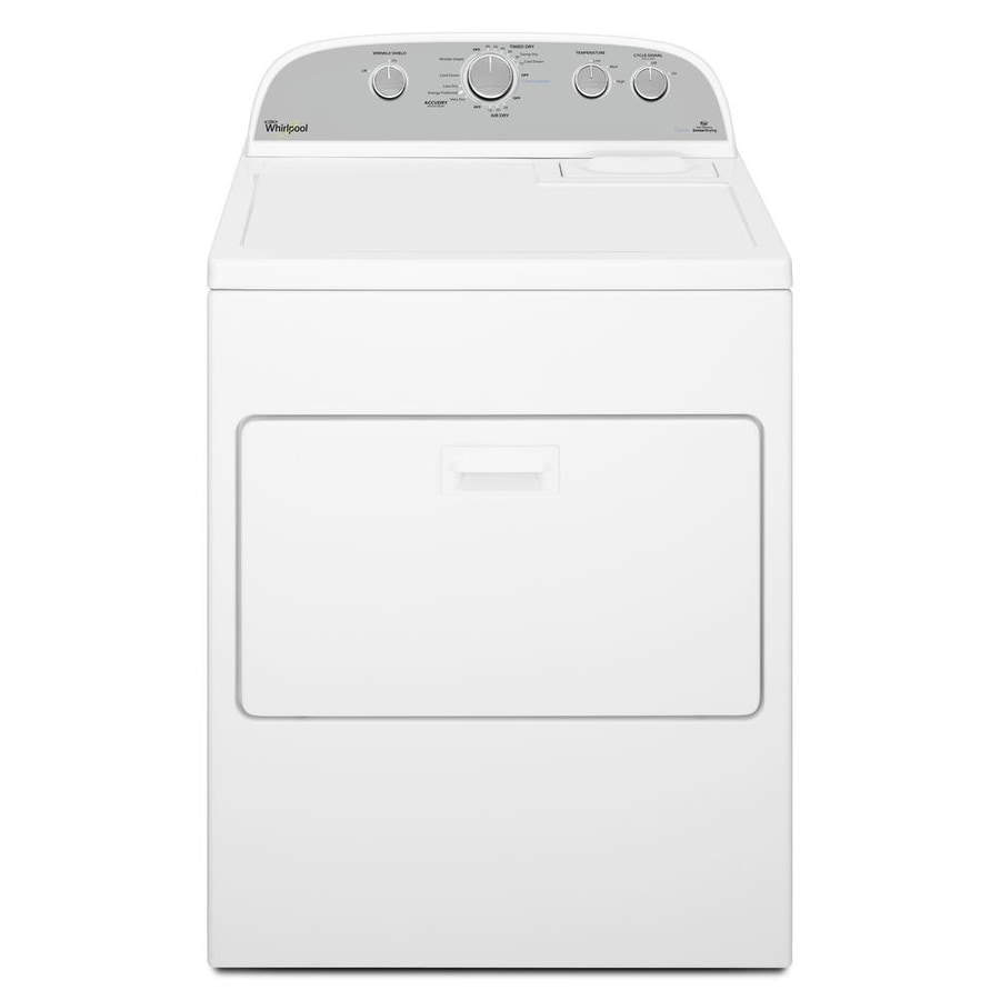 Whirlpool 7-cu ft Electric Dryer with Steam Cycle (White)