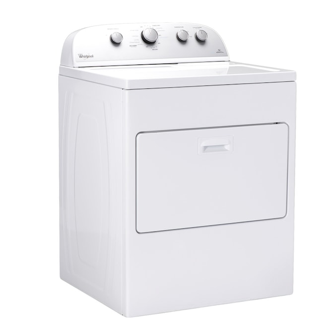Whirlpool 7 Cu Ft Vented Electric Dryer With Autodry White In The Electric Dryers Department At Lowes Com