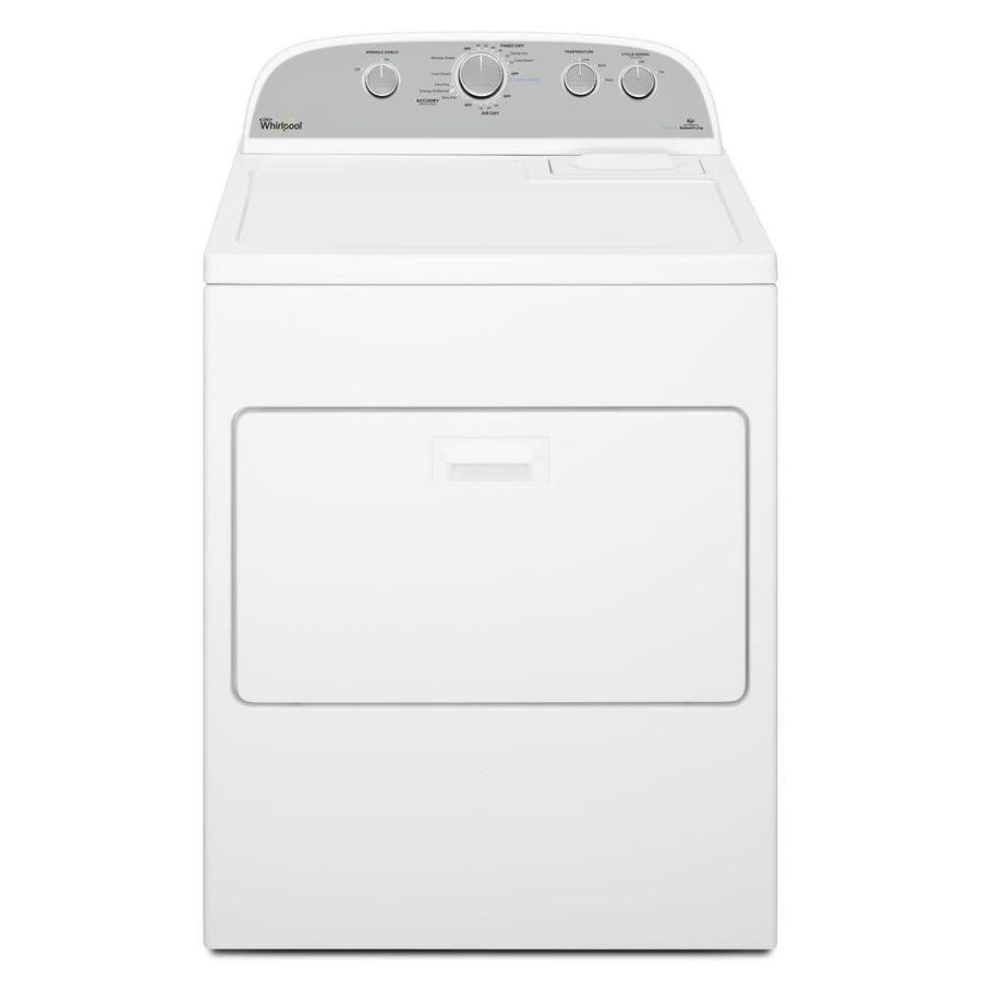 Whirlpool 7-cu ft Gas Dryer with Steam Cycle (White)