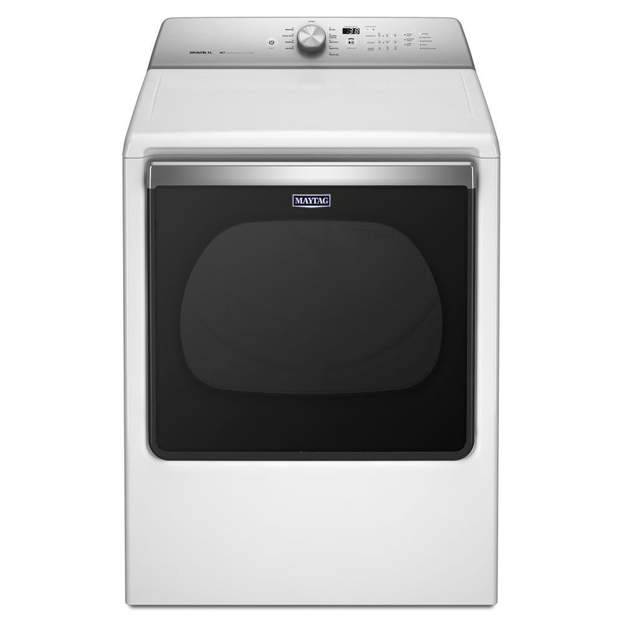 Maytag 8 8 Cu Ft Gas Dryer White At Lowes Com