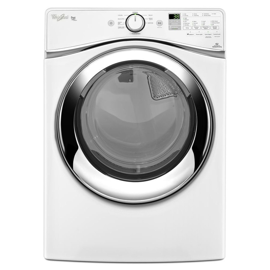 Whirlpool Duet 7.3-cu Ft Stackable Gas Dryer (White) At