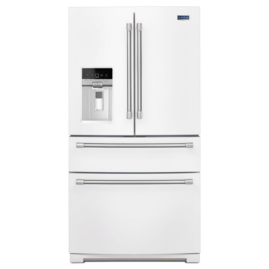 Superbe Maytag 26.2 Cu Ft French Door Refrigerator With Single Ice Maker (White)