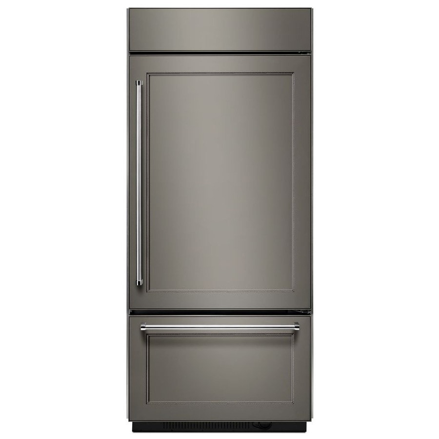 KitchenAid 20.9-cu ft Built-In Bottom-Freezer Refrigerator with Ice Maker (Panel Ready) ENERGY STAR