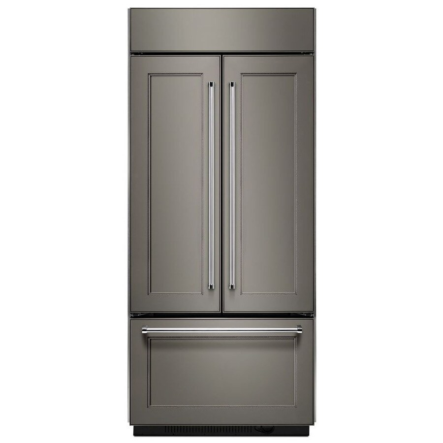 KitchenAid 20.8-cu ft 3-Door Built-in French Door Refrigerator Single Ice Maker (Panel Ready)