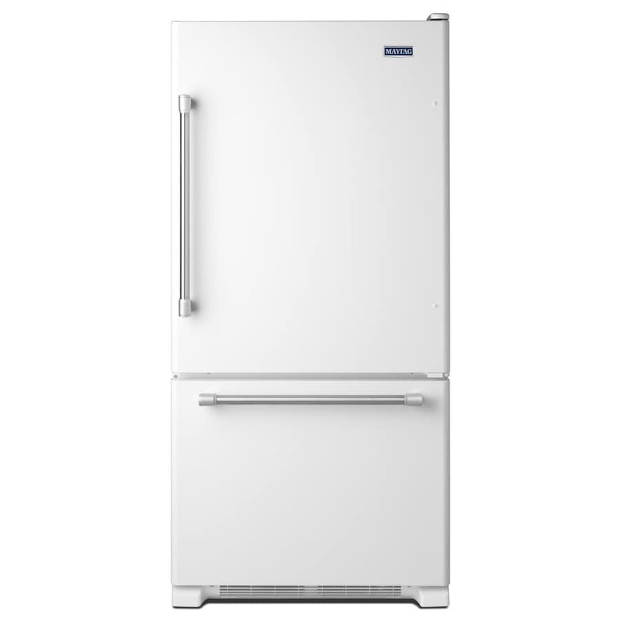 Charmant Maytag 22.1 Cu Ft Bottom Freezer Refrigerator With Single Ice Maker (White)