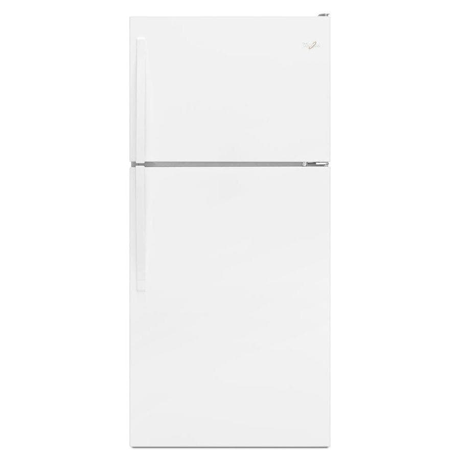 Whirlpool 18.2-cu ft Top-Freezer Refrigerator (White) ENERGY STAR