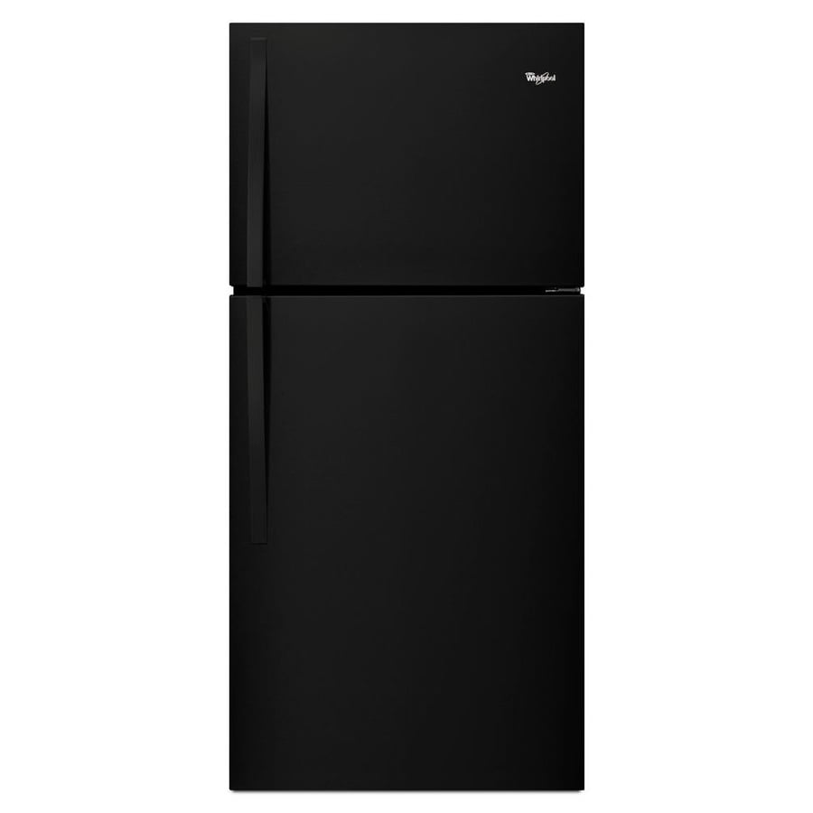 Shop Whirlpool 19 1 Cu Ft Top Freezer Refrigerator Black