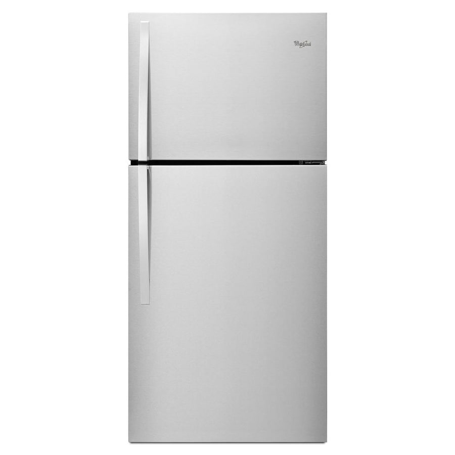 Whirlpool 19.1-cu ft Top-Freezer Refrigerator (Monochromatic Stainless Steel) ENERGY STAR