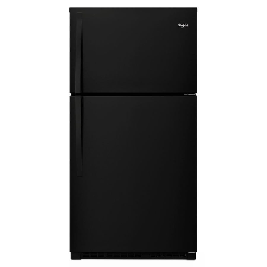 Whirlpool 21.3-cu ft Top-Freezer Refrigerator (Black)