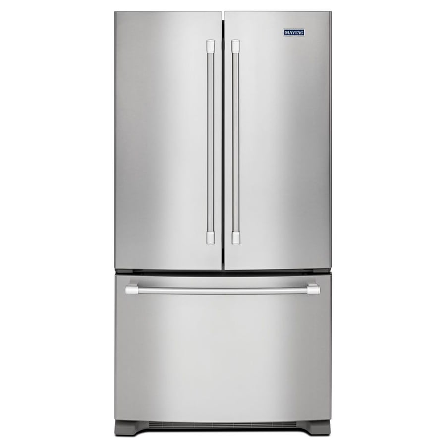 20 Cu Ft French Door Refrigerator: Shop Maytag 20-cu Ft Counter-Depth French Door Refrigerator With Single Ice Maker (Stainless