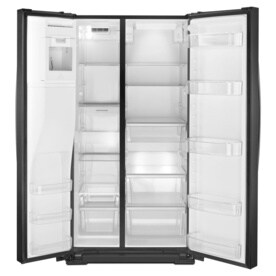 Shop Whirlpool 25 6 Cu Ft Side By Side Refrigerator With