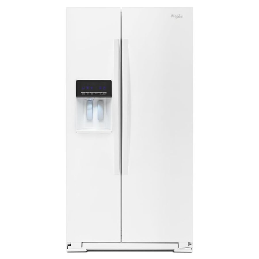 Whirlpool 25.6-cu ft Side-by-Side Refrigerator with Ice Maker (White)