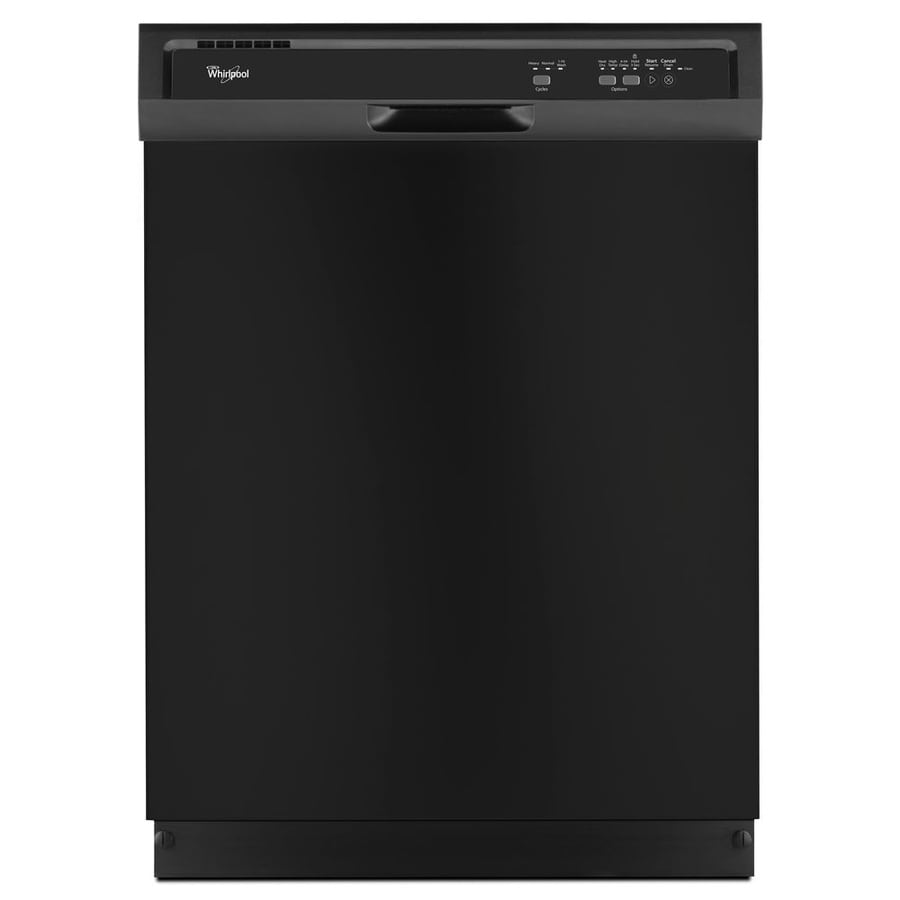 Whirlpool Kitchen Appliances Reviews: Shop Whirlpool 55-Decibel Built-In Dishwasher (Black