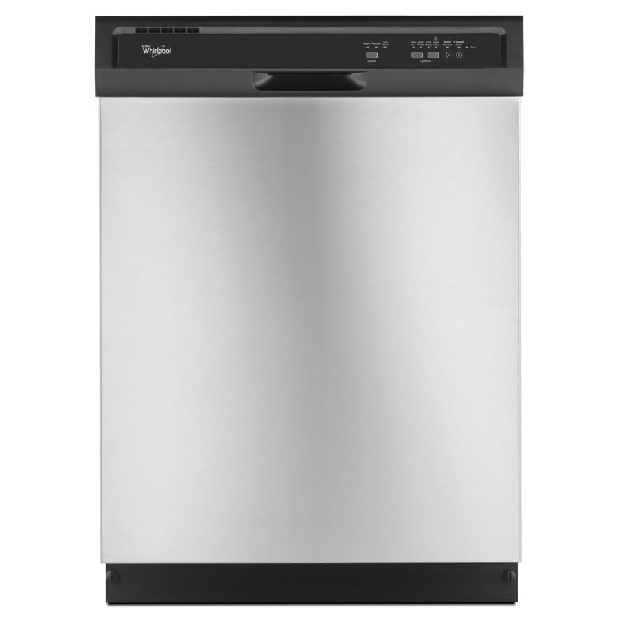 Whirlpool 55-Decibel Built-In Dishwasher (Black-On-Stainless) (Common: 24-in; Actual: 23.875-in) ENERGY STAR