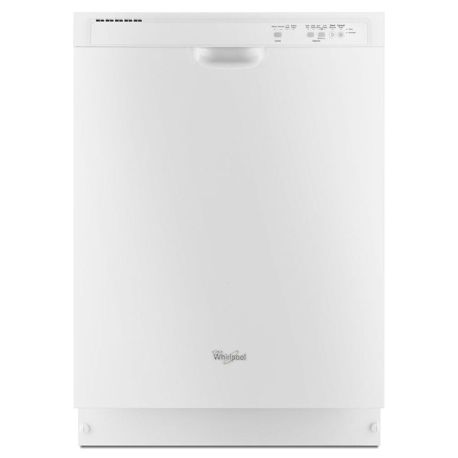 Whirlpool 55-Decibel Built-in Dishwasher (White) (Common: 24-in; Actual: 23.875-in) ENERGY STAR